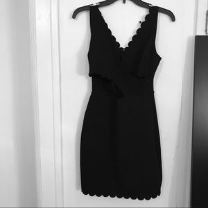 Top Shop Black Cut Out Mini Sleeveless Party Dress